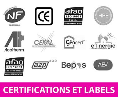 labels et certifications pour vos fenêtres