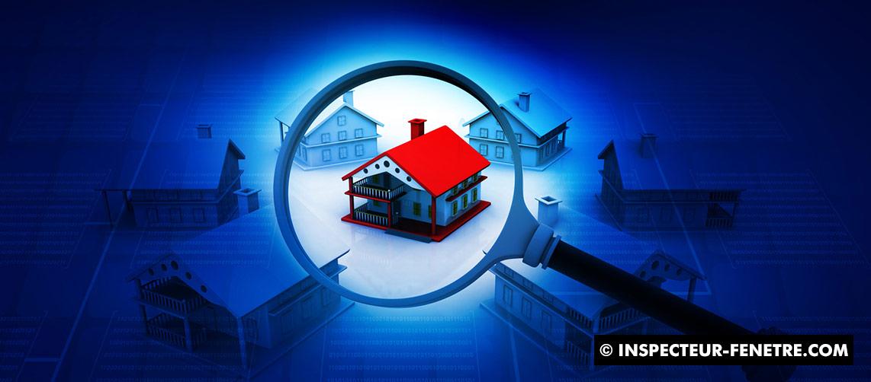 maison rouge bleu loupe